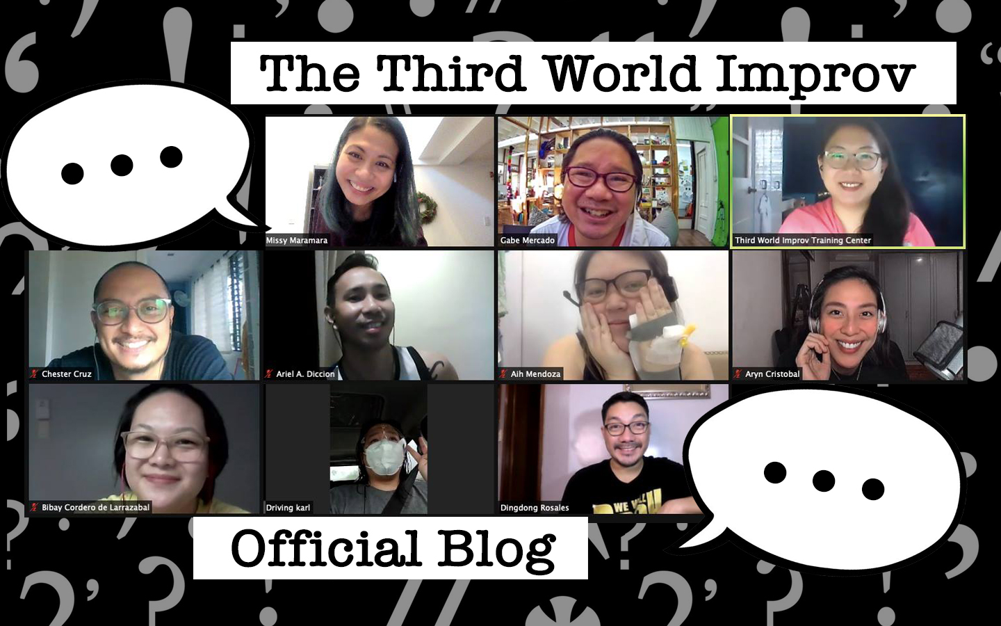 It's official: Welcome to the Third World Improv blog!